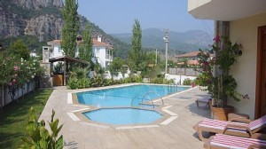 Swimming pool and childs pool at Villa Neseli in Dalyan.